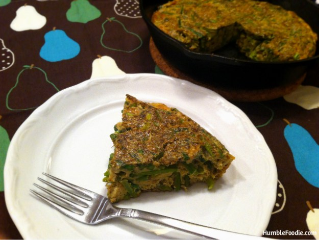 humble foodie paleo spring greens frittata