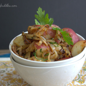 Spud Salad:  Caramelized Onion Parsley Potato Salad