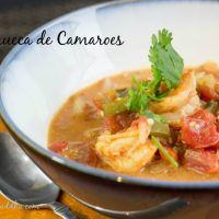 Moqueca de Camaroes, or Brazilian Shrimp Stew