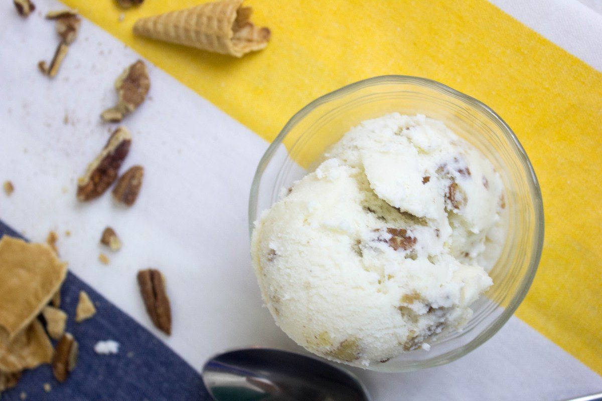 Smoked Honey Buttermilk Ice Cream