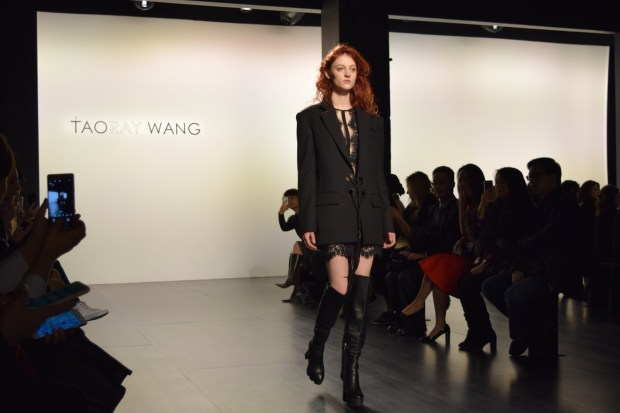 One of the looks from Taoray Wang show at New York Fashion Week (The Ink/Erica Pishdadian)