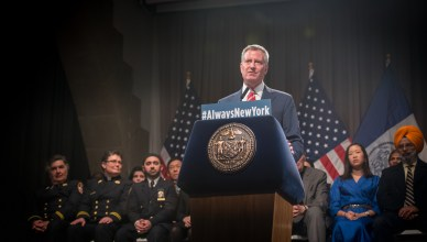 Mayor Bill de Blasio Spoke at Copper Union on Monday, November 21. ( Edwin J. Torres/Mayoral Photo Office)