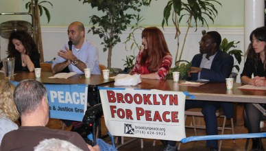 Panelists speak at the forum. (The Ink/Nadeem Shad)