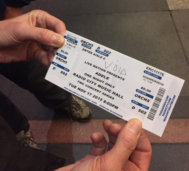 Many concertgoers were duped into paying $75-$500 by ticket scalpers. But even the scalpers did not make as much as they thought they would. (Photo: David Roza)