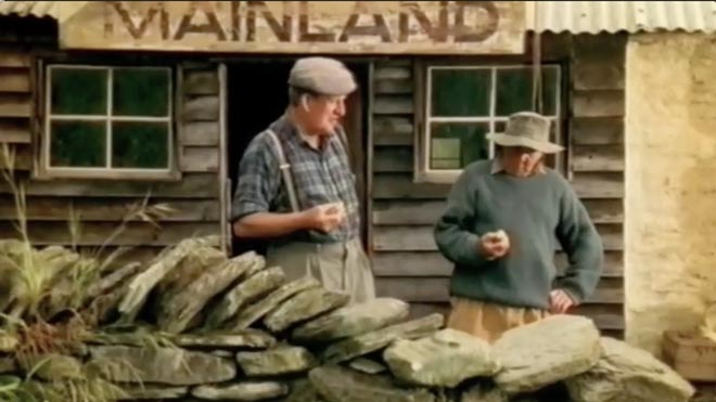Mainland Cheese Old Men Check Vintage in TV Ad