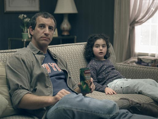 Father and Daughter on Emerald Nuts TV Ad