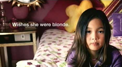 Girl n Dove Real Beauty Ad wishes she were blonde