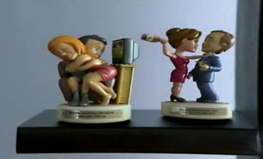 Figurines in TLC Life Lessons TV Ads