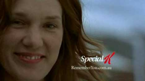 Remember You Web Site promoted in Special K TV ad