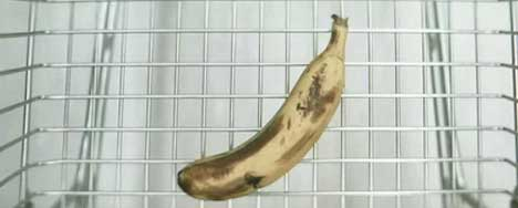 Banana in TV ad for Warhol exhibition