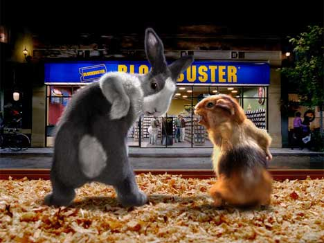 Ray and Carl in Blockbuster TV ad