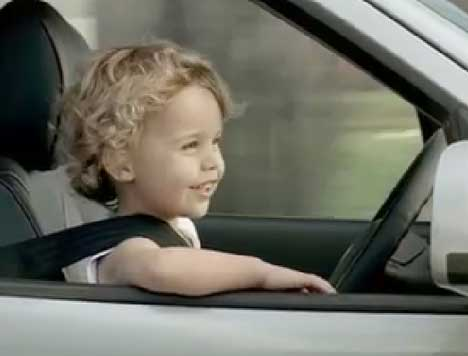 Next generation driver in Hyundai Santa Fe