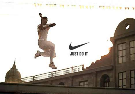 Cricketer leaps in Nike cricket TV ad