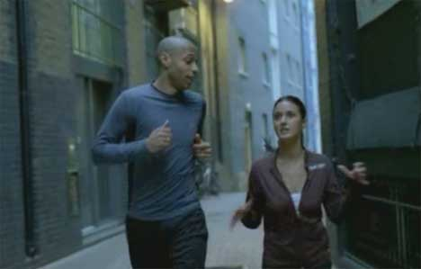 Runners chat in Reebok TV ad
