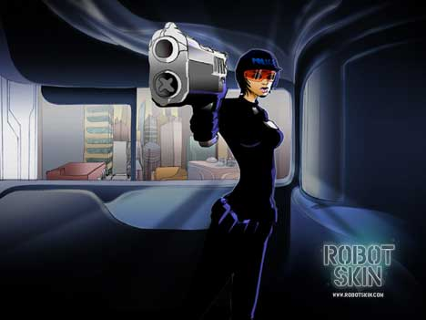 Officer Susan Hart in Philips Robot Skin series