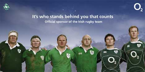 Irish Rugby Players in O2 advertising campaign