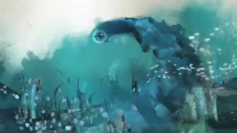 Underwater scene in Guinness Dot TV ad