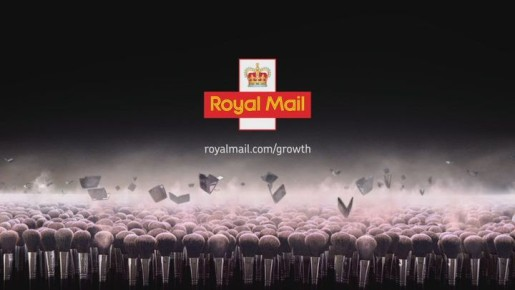 Royal Mail Grow advert with cosmetics