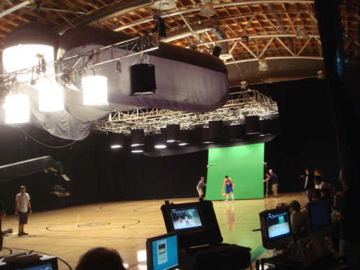 Player with green screen in WNBA Eight to One commercial