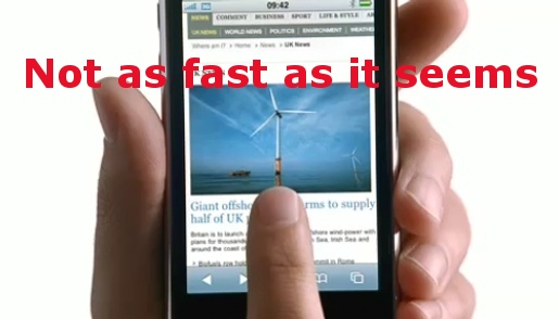 Banned iPhone Advert - not as fast as it seems