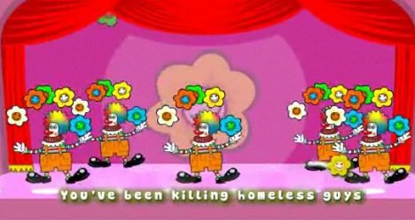 Clowns sing in Condemned viral ad