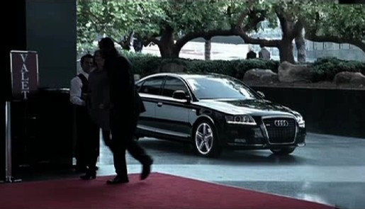 Supercharged Audi A6 in Chase commercial