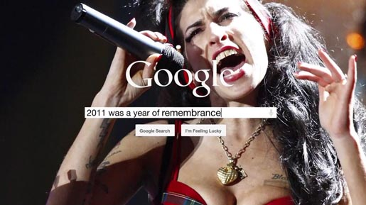 Google 2011 was a year of remembrance