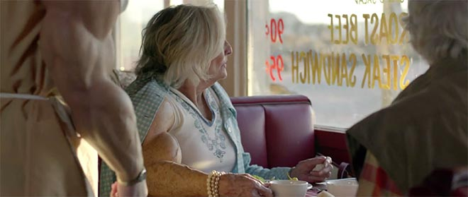 Skittles diners in Settle It Super Bowl ad