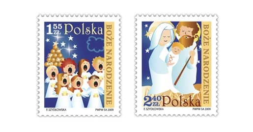 Poland Christmas Stamps 2009