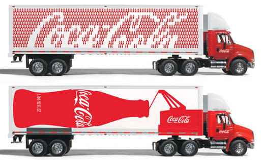 Coca Cola trucks designed by Turner Duckworth