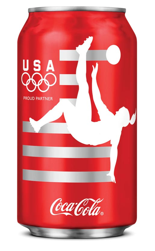 Coca Cola London Olympics Soccer can