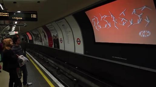 Kit Kat Klocks in London Subway