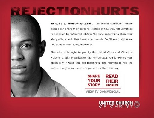 Screen shot from Rejected by Religion Web Site