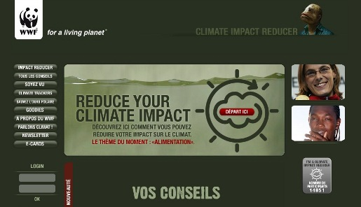 WWF Climate Impact Reducer site