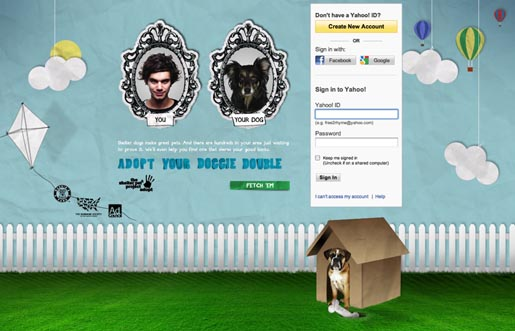 Yahoo Adopt a Doggie Double