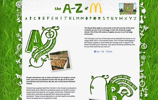 McDonalds A to Z site