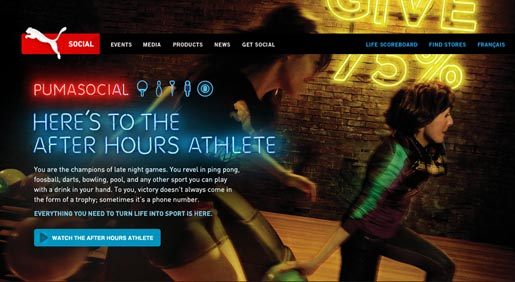 Puma Social Club After Hours Athlete site