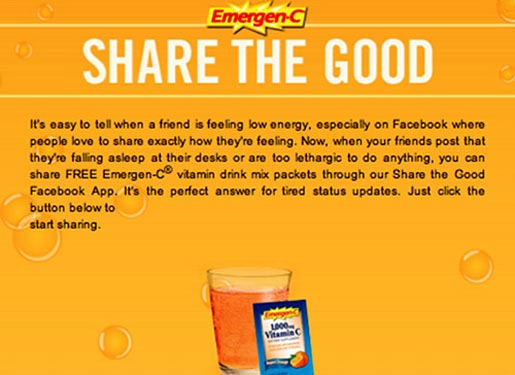 Emergen C Share the Goodness