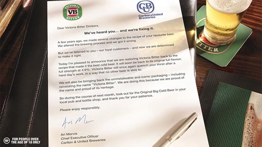 Victoria Bitter Letter From Ari