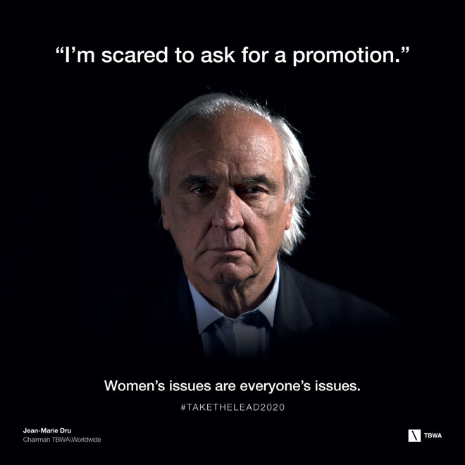 TBWA Take The Lead on Gender Equality in the workplace - Jean Marie Dru