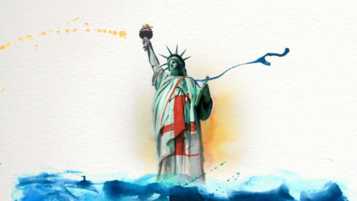 Beyonce Statue of Liberty in 4 Around the World video