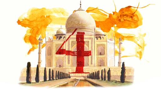 Beyonce Taj Mahal Water Colours in 4 Around the World video