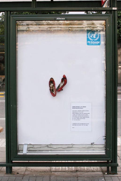 Shoes from UN Georgia campaign