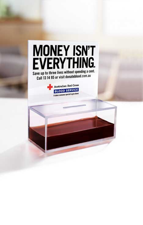 Red Cross Blood Box Poster