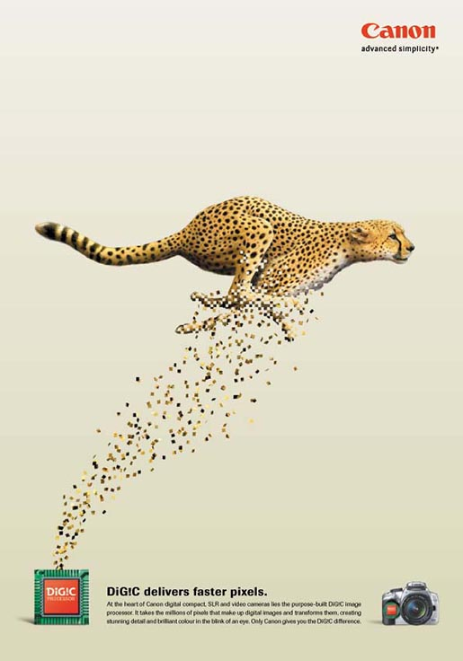 Leopard appears in Canon Digic print ad