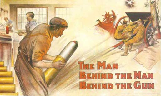 Poster encouraging munitions workers