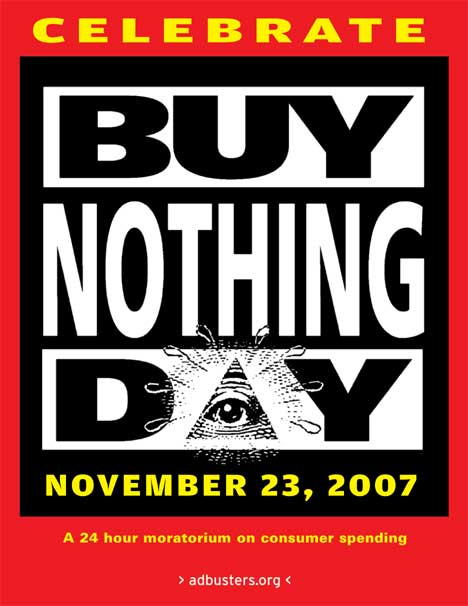 Adbusters Red poster for Buy Nothing Day