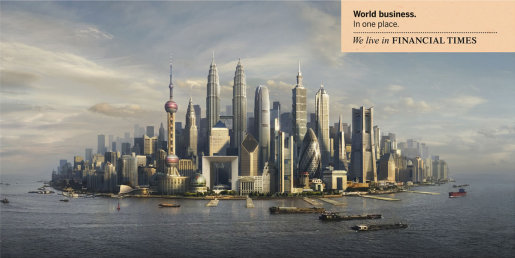 Many cultures and countries found in one island in Financial Times print ad