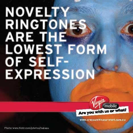 Novelty ringtones are the lowest form of self expression