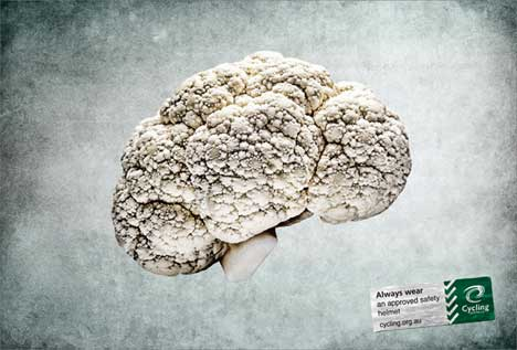 Cauliflower in Cycling Australia print ad